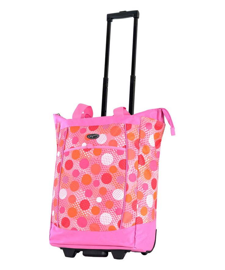 Loving this Pink Dot Wheeled Shopper Tote on #zulily! #zulilyfinds