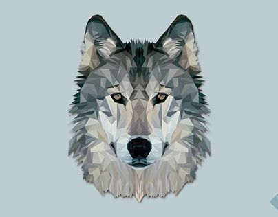 """Check out new work on my @Behance portfolio: """"Low Poly Wolf"""" http://be.net/gallery/43510041/Low-Poly-Wolf"""
