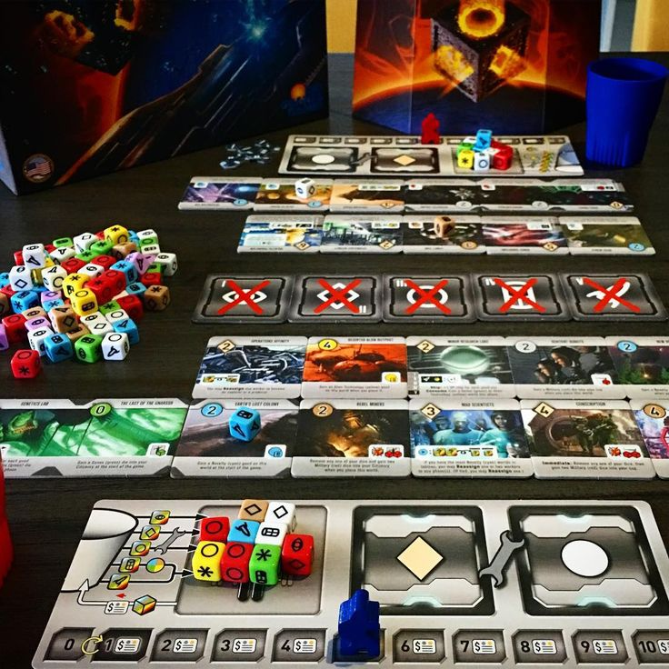 Rolling for the galaxy and got smashed! #rollforthegalaxy #riograndegames #dicegame #tabletop #bgg #boardgamegeek #boardgamer #juegodemesa #brettspiel #tabletopgame #tabletopgaming #gamesday