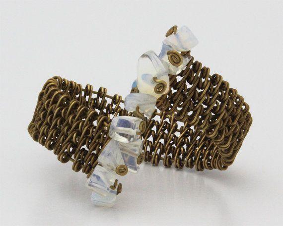 Bracciale intrecciato Opalite braccialetto di ARTnSOULcreation