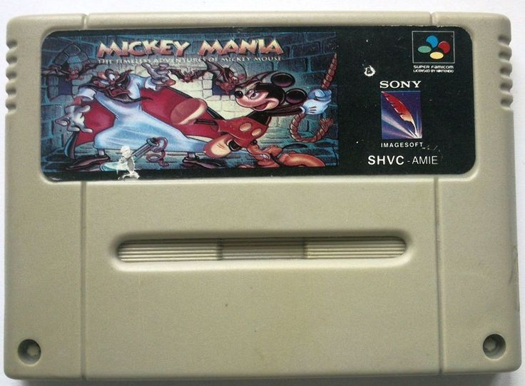 Rare Original SNES Mickey Mania game (NTSC 1994)