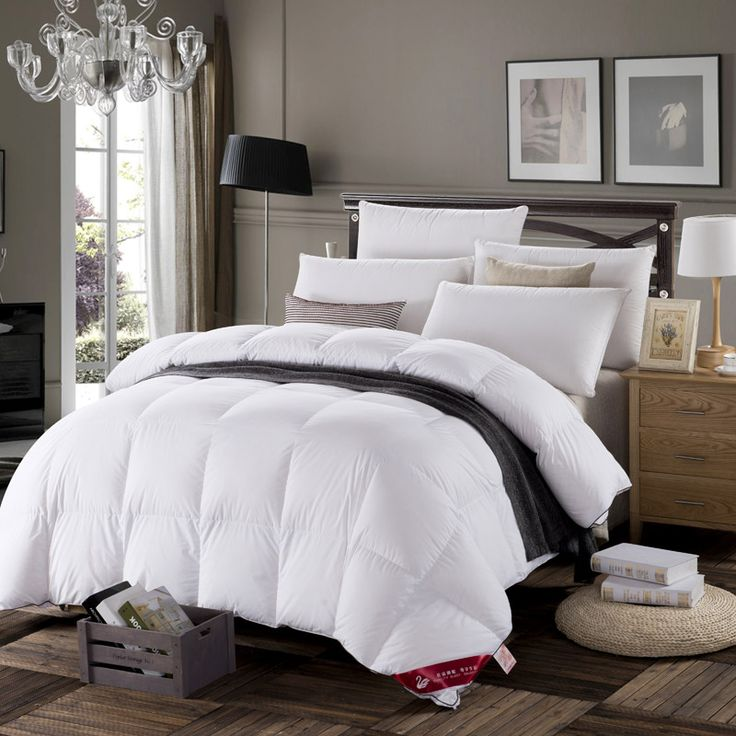 Duck goose down Feather comforter set luxurious 200x230cm 220x240cm beautiful goodliness comeliness quilt