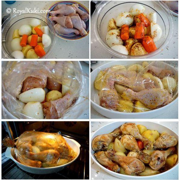 Fırında Patatesli Tavuk incik