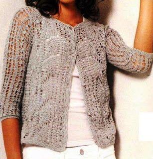 Free Knitting Patterns - Elegant Jacket (crochet)