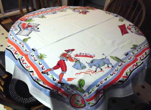 Vintage Southwestern Tablecloth Excellent   eBay