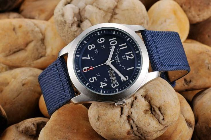 Armbandsur Eyki - Army Natoband (blå) #eyki #kimio #sportklocka #sportklockor #armbandsur #klocka #klockor #herrklocka #herrklockor #runns #watch #watches #nato #natoband #overfly