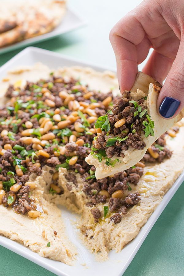 35 best arabic breakfast images on pinterest arabian food arabic hummus with ground lamb and pine nuts a middle eastern specialty forumfinder Choice Image