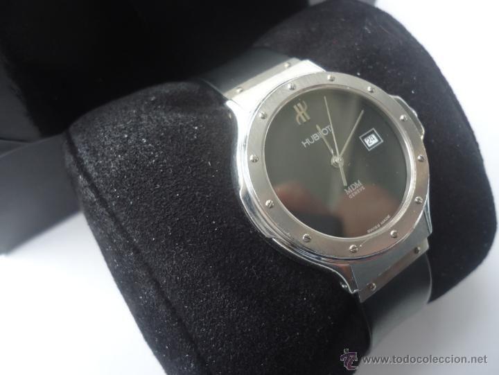 Reloj antiguo en todocoleccion: Hublot Classic MDM 1401 1, acero 32 mm señora y cadete
