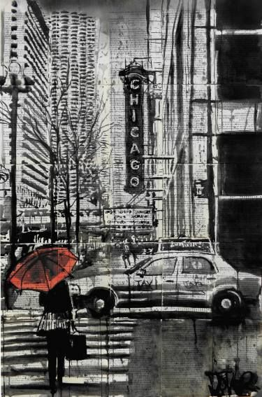 """Saatchi Art Artist Loui Jover; Drawing, """"chicago.....that toddling town (SOLD)"""""""