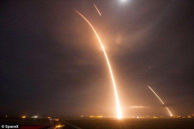 The launch (pictured) was the first time an unmanned rocket returned to land vertically at Cape Canaveral, and represented a tremendous success for SpaceX. Musk claims it paves the way for humans living on Mars