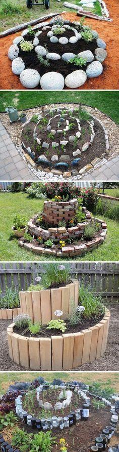 Spiral Raised Garden Bed.
