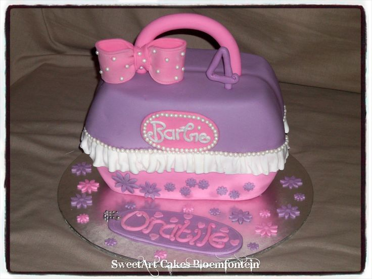 BARBIE HANDBAG CAKE For more information & orders, Email:  sweetartbfn@gmail.com or call 0712127786 (Fondant classes available in the Bloemfontein region - For more information email sweetartclasses@gmail.com)