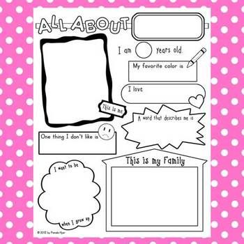 All About Me Poster {getting acquainted for back to school}