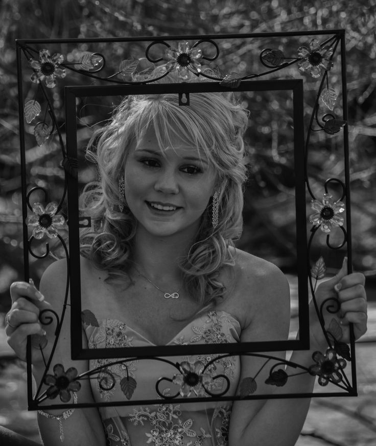 Matric farewell portrait photo idea with a frame taken just before the farewell (Prom)