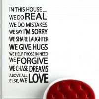 House Rules Wall Decal Large