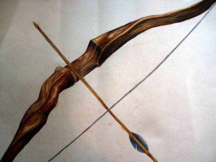 bow and arrow wood  2