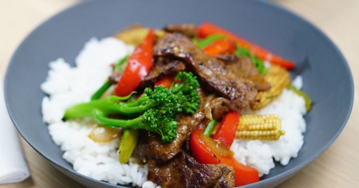 Have dinner on the table in no time with this tasty beef and vegetable stir fry.