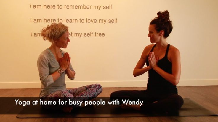 Yoga at home for busy people with Wendy  #yoga #home #busypeople #bodylove #helenepouwels