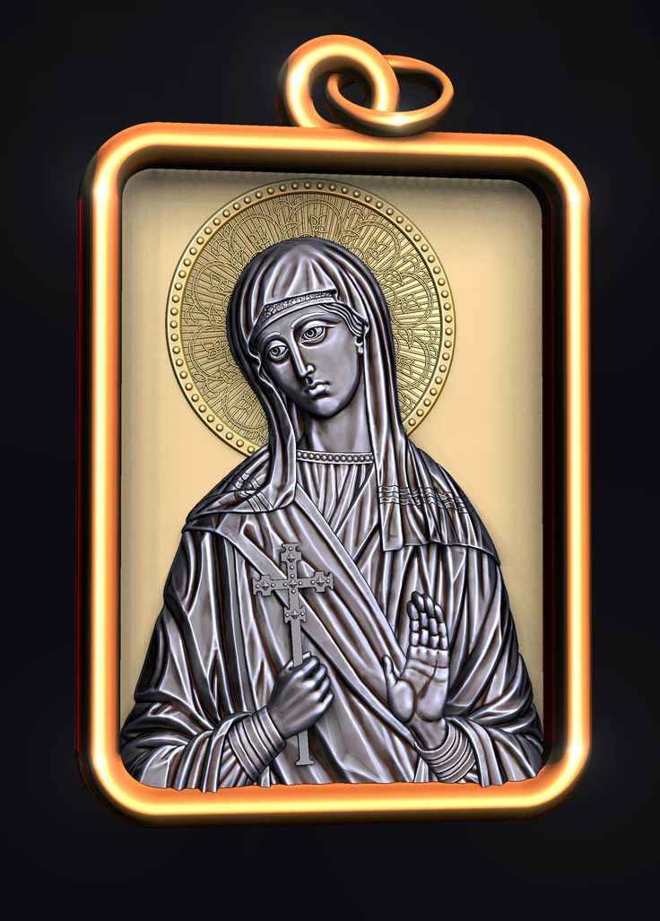 Holy Martyr Capitolina of Cappadocia. Underwear icon. 3D model for CNC milling machine. Simulation programs: MoI, ArtCam, ZBrush. Private order.