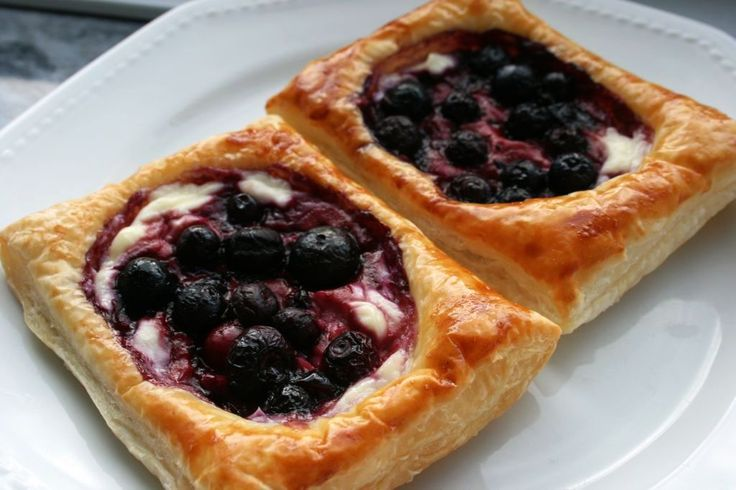 Cream cheese, blueberry pastries..yummy