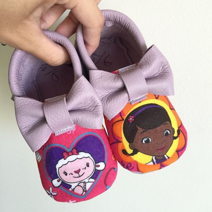 Doc Mcstuffins bow moccs baby toddler moccasins clothes shoes baby shower ideas baby food maternity baby girl announcement milestones breastfeeding 1st birthday first birthday