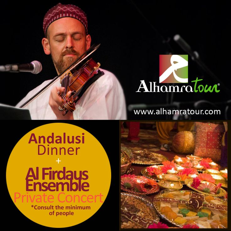 Travel the halal way and... Have an andalusian dinner with Firdaus Ensemble , from #Granada, one of the most popular #islamic #music group. Add this extra to your travel and enjoy it! www.alhamratour.com  #alhamratour #sufimusic #sufi #islam #islamicmusic #firdausensemble #alikeeler #andalusiandinner #granada #halalfood #arabicfood #arabic #concert #halaltrip #halal #travel #Andalucia #Alhambra #trip #instatravel #tourism #halalway
