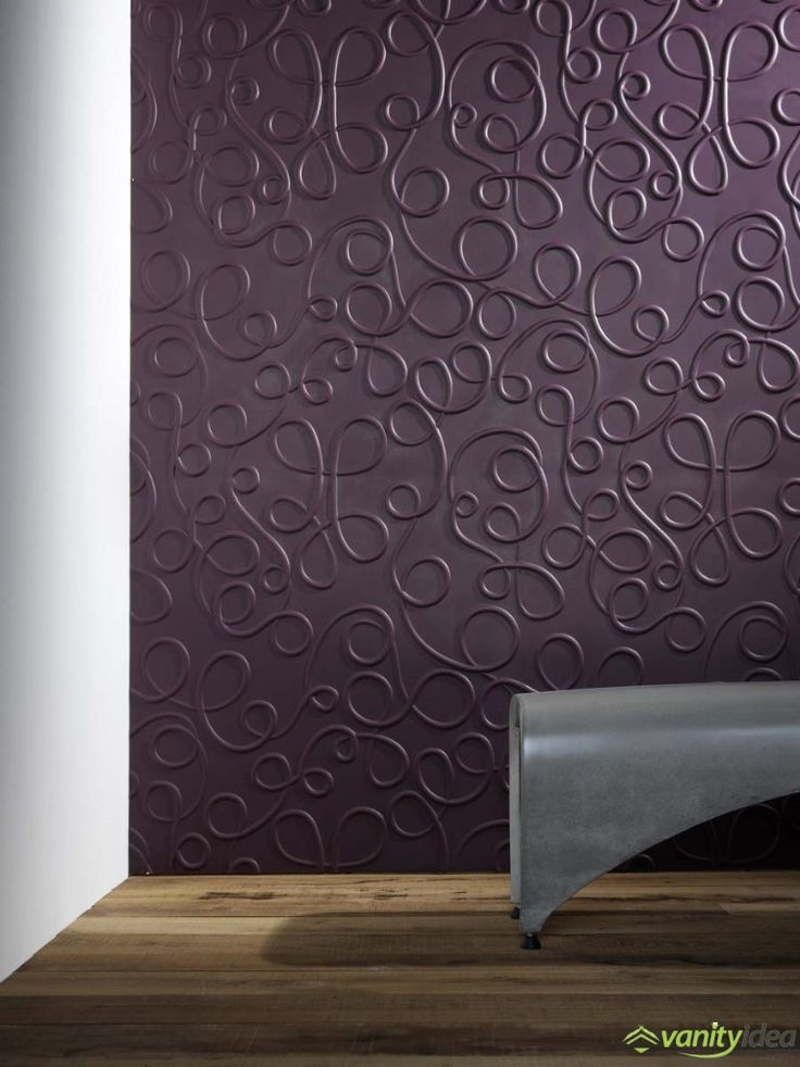 3D wall surfaces available in various shapes and colours