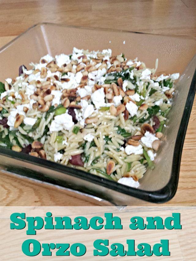 Spinach Orzo Salad Recipe