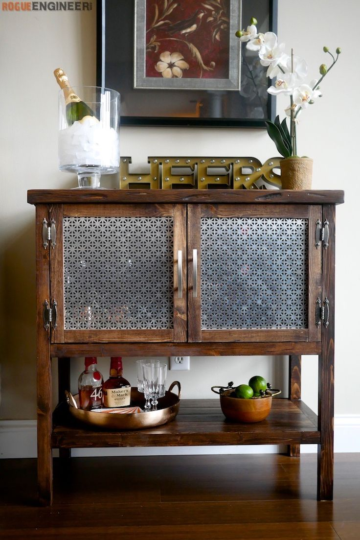 Cabinet Plans Step-by-Step: How to Build a Bar Cabinet (or other kitchen storage)