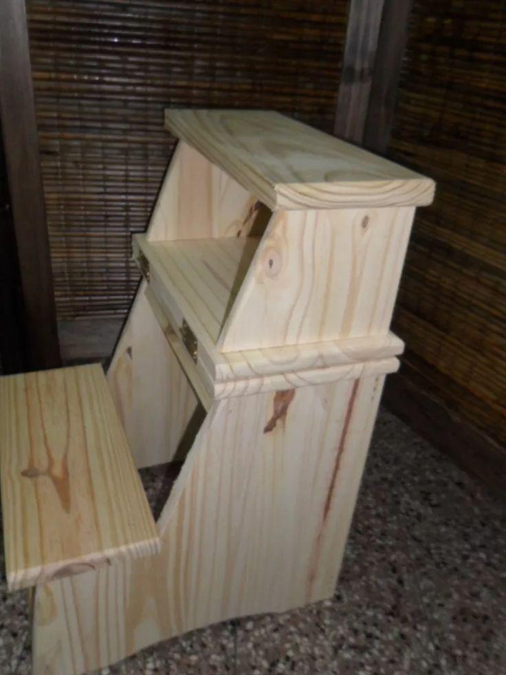 M s de 25 ideas incre bles sobre banco plegable en for Escalera madera portatil
