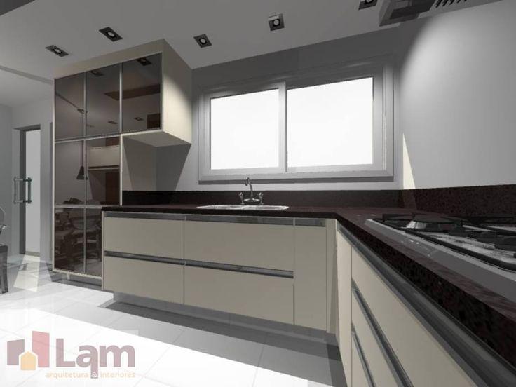 Cocinas de estilo moderno por LAM Arquitetura | Interiores