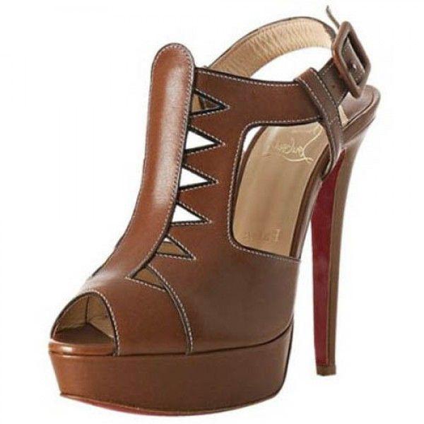 Volnay 140mm Leder Sandalen Braun Online-Verkauf sparen Sie bis zu 70% Rabatt, einfach einkaufen des weiteren versandkostenfrei.#shoes #womenstyle #heels #womenheels #womenshoes  #fashionheels #redheels #louboutin #louboutinheels #christanlouboutinshoes #louboutinworld