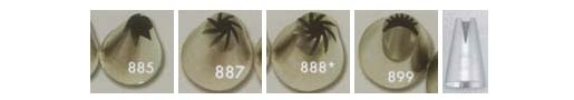 Ateco Swirl Decorating Tips / Tubes 885 887 8888 899