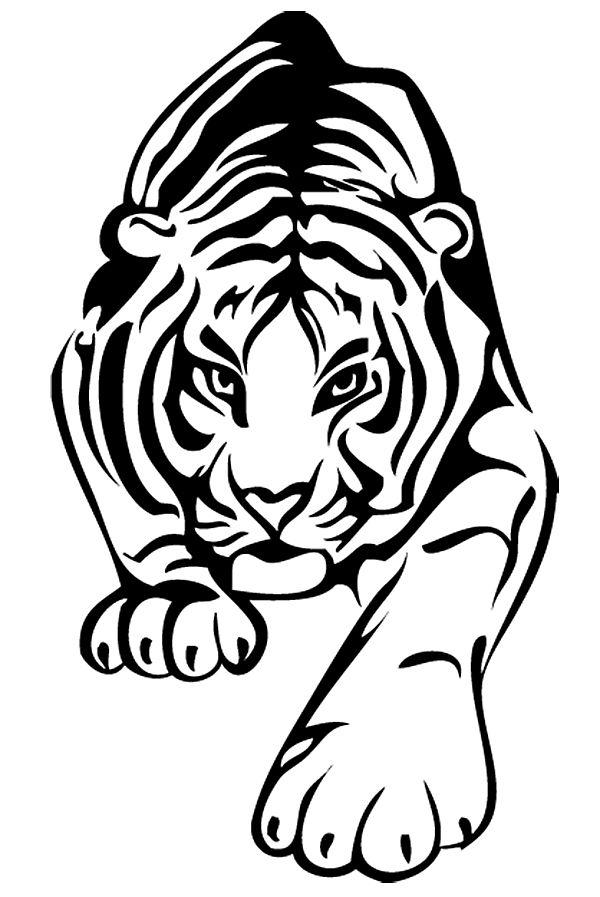 Трафареты для стен тигр