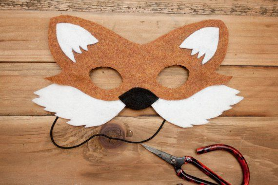 how to make a fox mask out of felt