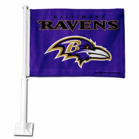 Rico Industries NFL Car Flag, Baltimore Ravens, Purple