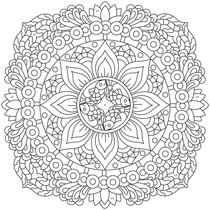 """408 Likes, 3 Comments - Best Coloring App for Adults (@colortherapyapp) on Instagram: """"The sneak peek for the next Gift of The Day tomorrow. Do you like this one? #mandala •••••••••••…"""""""
