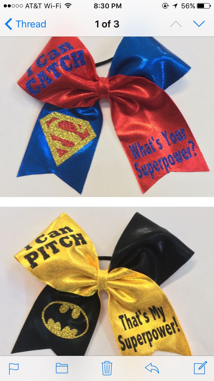 Pitcher catcher softball bows
