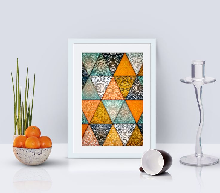 colorful geometric print, triangles poster, digital print, room ideas, geometric art, printable art
