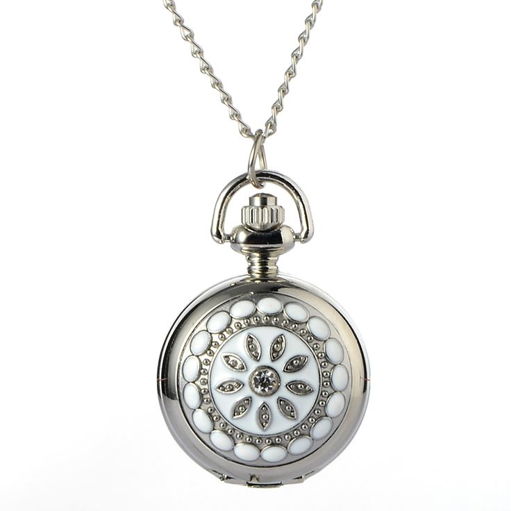 >> Click to Buy << Cindiry Fashion Silver Crystal Flower Quartz Pocket Watch Necklace Pendant Lady Girl Birthday Gift Relogio De Bolso Antigo #Affiliate