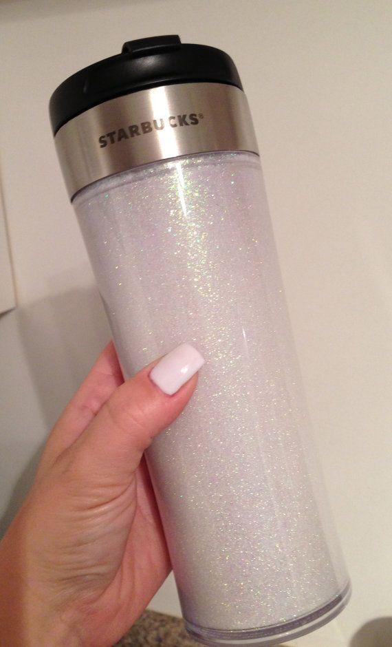 Starbucks Glitter Stainless Steel Tumbler Cup by AllThatGlitters6