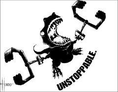 My Brother is an artist.. I love T-rex arms, and I want a shirt with this on it..