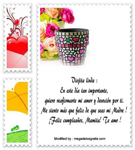 palabras de cumpleaños para mi Mamà,saludos originales de cumpleaños para mi Mamà : http://www.megadatosgratis.com/carta-para-una-mama-que-esta-de-cumpleanos/