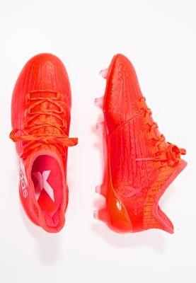 adidas Performance X 16.1 FG - Chaussures de foot à crampons - neonrot/silber - ZALANDO.FR
