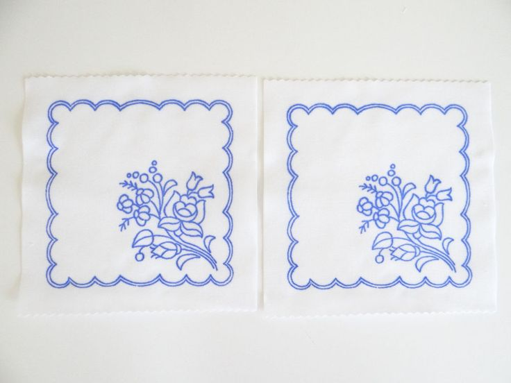 2 Kalocsa square doilies pattern print from Hungary New 6 1/4'' x 6 1/4'' c in Collectibles, Linens & Textiles (1930-Now), Lace, Crochet & Doilies   eBay