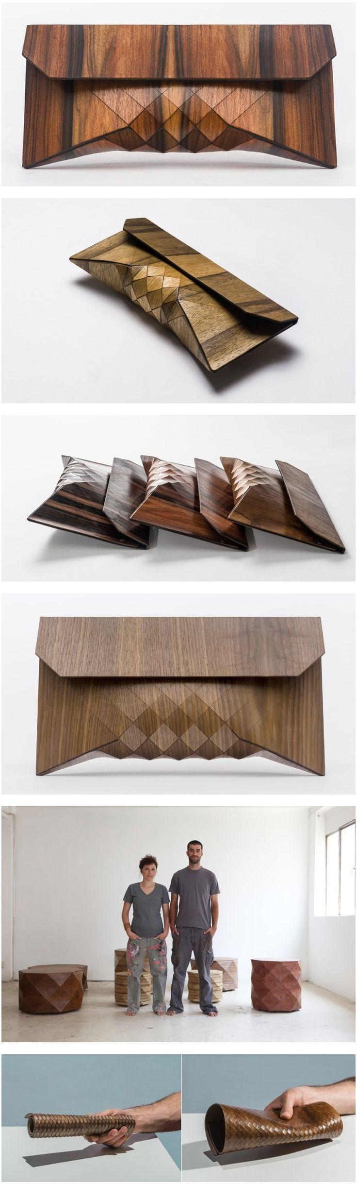flexible wood pouch