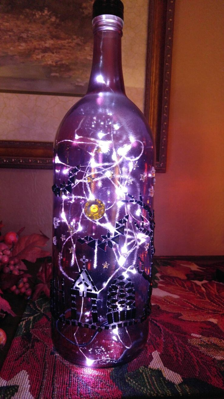 Best 25 Lighted Wine Bottles Ideas On Pinterest Wine