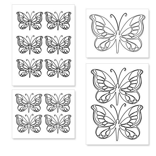 Printable Butterfly Shapes from PrintableTreats.com