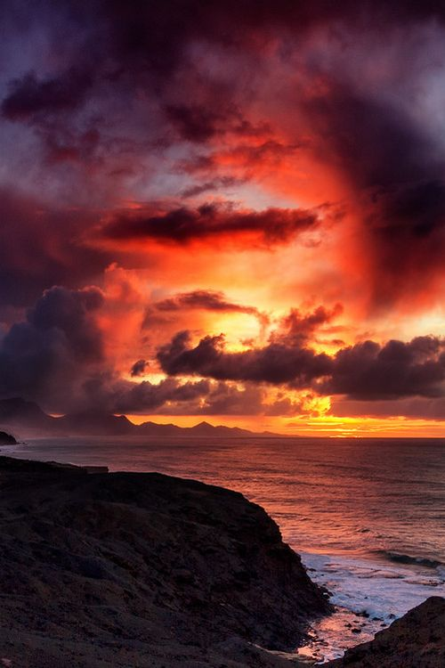 Jandía at sunset