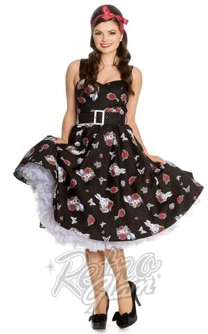Hell Bunny Drink Me 50s Dress